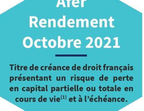 AFER Rendement Octobre 2021
